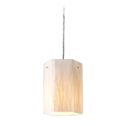 Elk Lighting Modern Mini-Pendant Light with White Glass 19031/1