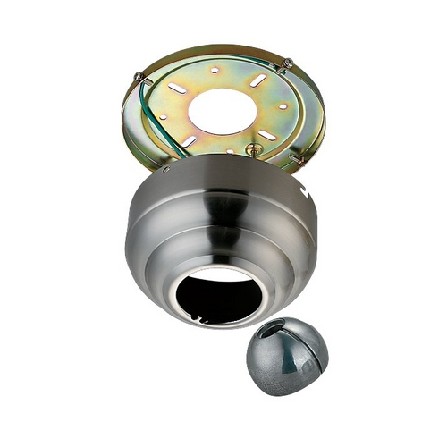 Monte Carlo Fans Ceiling Adaptor in Brushed Steel Finish MC95BS