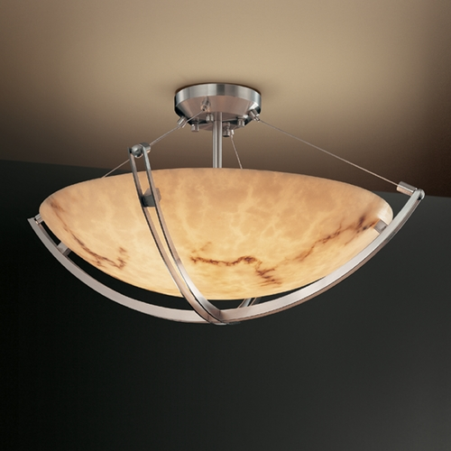 Justice Design Group Justice Design Group Lumenaria Collection Semi-Flushmount Light FAL-9712-35-NCKL