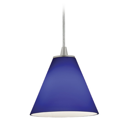 Access Lighting Access Lighting Tali Inari Silk Brushed Steel Mini-Pendant with Conical Shade 28004-2C-BS/COB