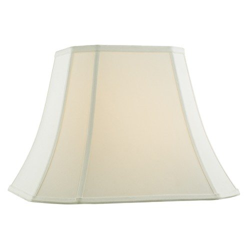 Design Classics Lighting Off White Cut Corner Fabric Lamp Shade with Piping and Spider Assembly SH9730