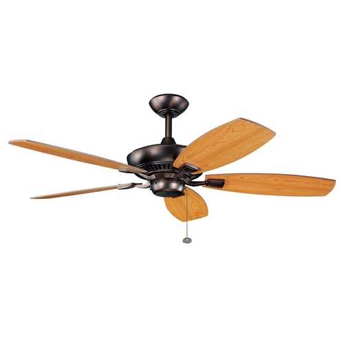 Kichler Lighting Kichler 52-Inch Pull-Chain Ceiling Fan with Five Blades 300117OBB