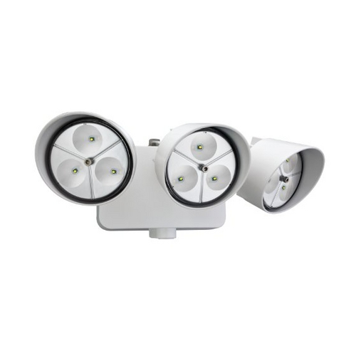 Lithonia Lighting Dusk-to-Dawn 3-Head LED Floodlight OFLR 9LN 120 P WH M2