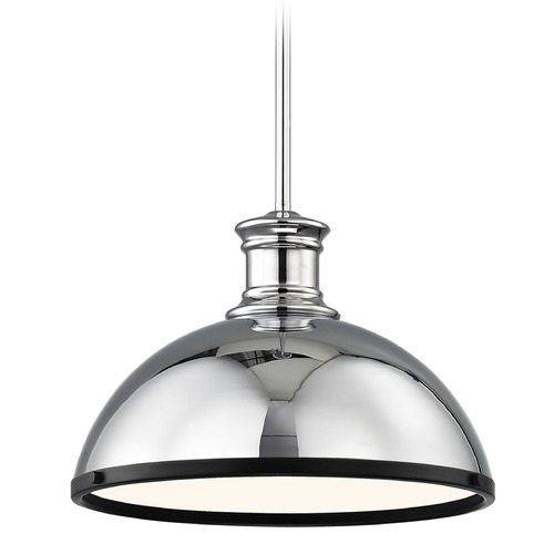 Design Classics Lighting Industrial Pendant Light Chrome with 13.38-Inch Wide 1761-26 SH1776-26 R1776-07
