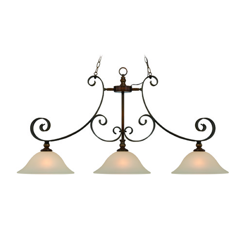 Craftmade Lighting Craftmade Seville Spanish Bronze Island Light with Bowl / Dome Shade 28073-SPZ