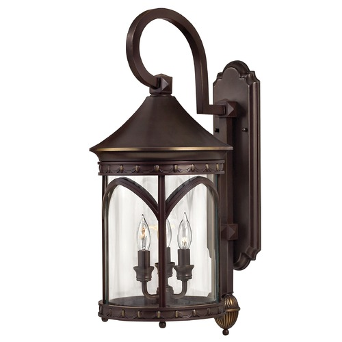 Hinkley Outdoor Wall Light with Clear Glass in Copper Bronze Finish 2314CB
