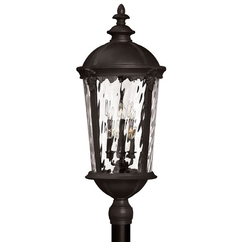 Hinkley Lighting Post Light with Clear Glass in Black Finish 1921BK