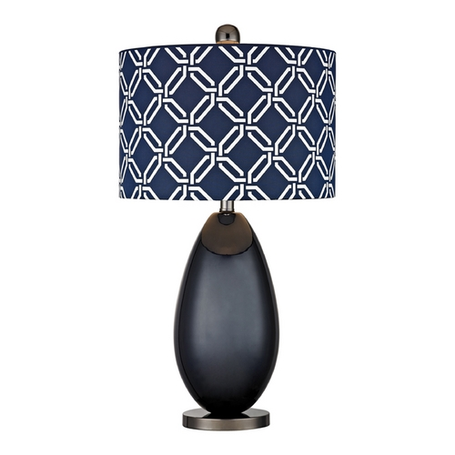 Dimond Lighting LED Table Lamp with Blue Shades in Navy Blue with Black Nickel Finish D2521-LED