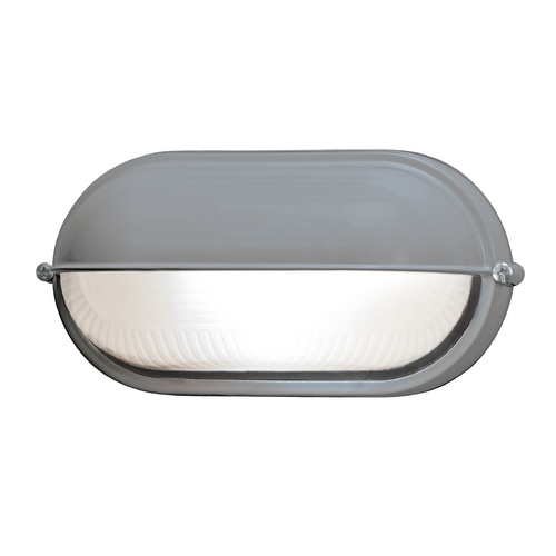 Access Lighting Access Lighting Nauticus Satin Nickel Outdoor Wall Light 20291-SAT/FST