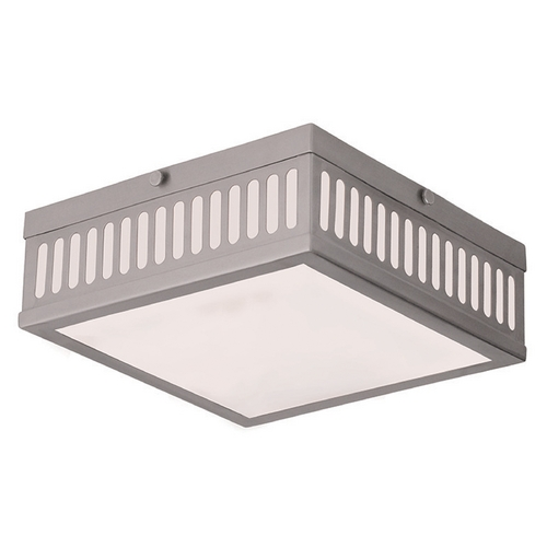 Livex Lighting Livex Lighting Prentice Brushed Nickel Flushmount Light 73163-91
