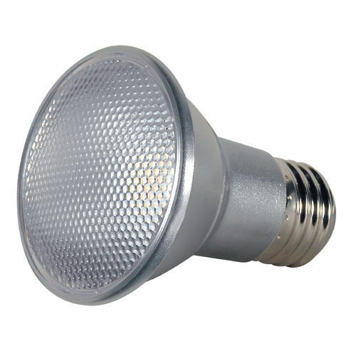 Satco Lighting 7W Medium Base LED Bulb PAR20 40 Degree Beam Spread 525LM 3000K Dimmable S9406