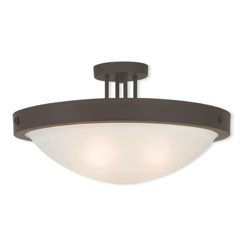 Livex Lighting Livex Lighting New Brighton Bronze Semi-Flushmount Light 73957-07