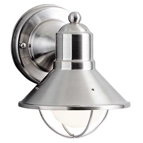 Kichler Lighting Kichler Nautical Outdoor Wall Light in Brushed Nickel 9021NI