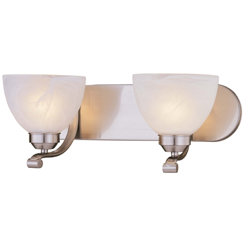 Minka Lavery Energy Star 2-Lt Bathroom Light - Etched Marble Glass 5422-84-PL