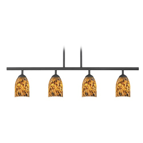Design Classics Lighting Design Classics Axel Fuse Matte Black Island Light with Bowl / Dome Shade 718-07 GL1005D