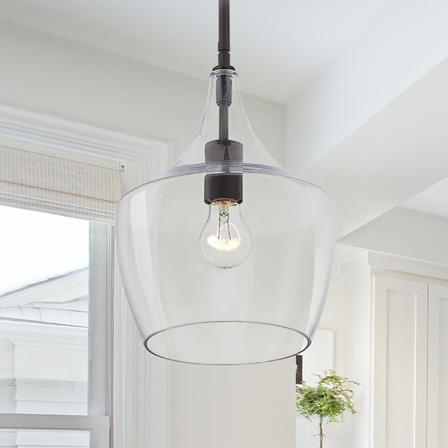 Design Classics Lighting Design Classics Serra Neuvelle Bronze Pendant Light with Bowl / Dome Shade 1813-220