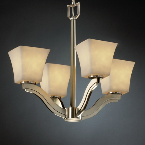Justice Design Group Justice Design Group Clouds Collection Chandelier CLD-8970-40-NCKL