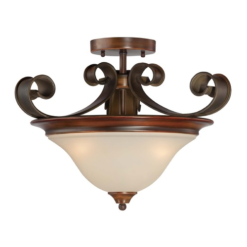 Jeremiah Lighting Jeremiah Seville Spanish Bronze Semi-Flushmount Light 28053-SPZ