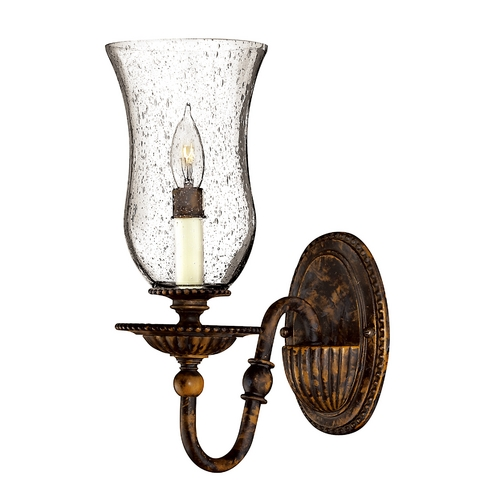 Hinkley Lighting Sconce with Clear Glass in Forum Bronze Finish 4620FB