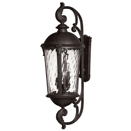 Hinkley Lighting Outdoor Wall Light with Clear Glass in Black Finish 1929BK
