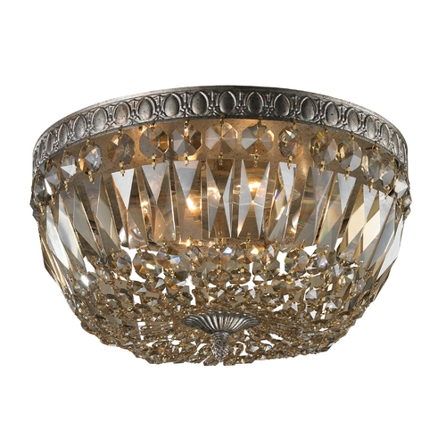 Elk Lighting Crystal Flushmount Light in Sunset Silver Finish 11491/4
