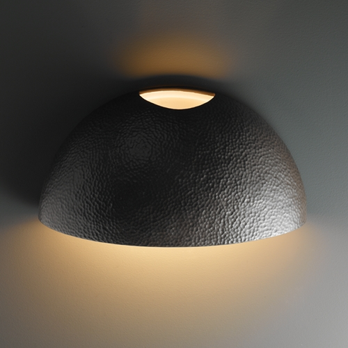 Justice Design Group Outdoor Wall Light in Hammered Iron Finish CER-1120W-HMIR