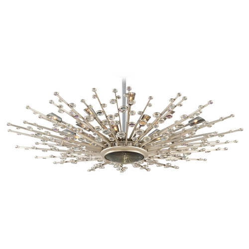 Corbett Lighting Mid-Century Modern Pendant Light Silver Leaf Big Bang by Corbett Lighting 183-420
