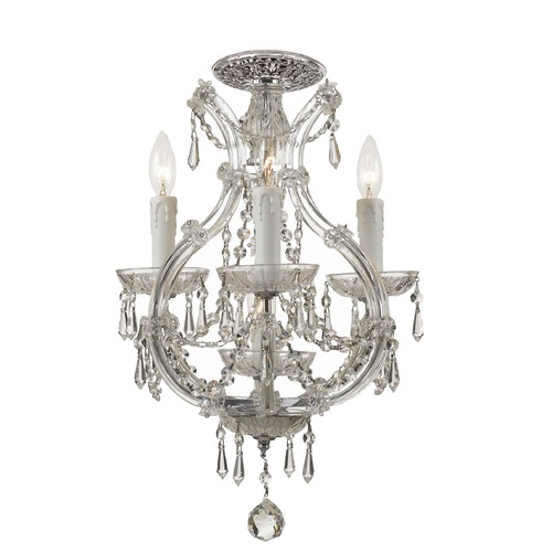 Crystorama Lighting Crystorama Lighting Maria Theresa Polished Chrome Semi-Flushmount Light 4473-CH-CL-SAQ_CEILING