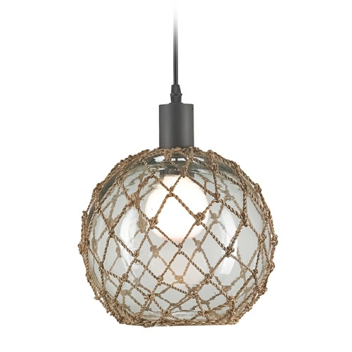 Currey and Company Lighting Currey and Company Lighting Fairwater Natural / Old Iron Mini-Pendant 9575