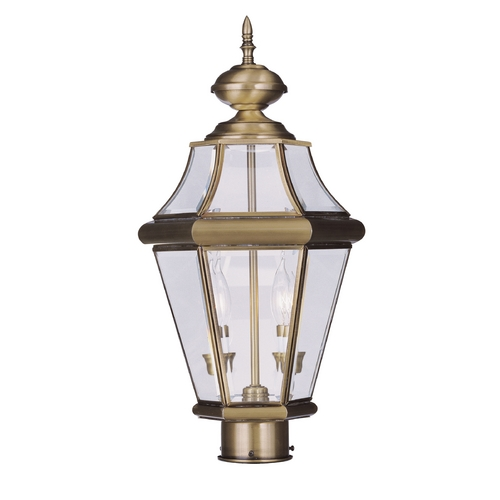 Livex Lighting Livex Lighting Georgetown Antique Brass Post Light 2264-01