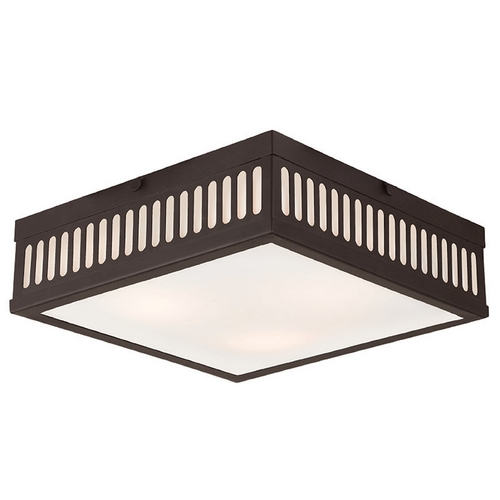 Livex Lighting Livex Lighting Prentice Bronze Flushmount Light 73164-07