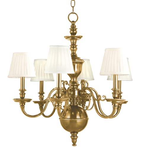 Hudson Valley Lighting Hudson Valley Lighting Charleston Aged Brass Chandelier 1746-AGB