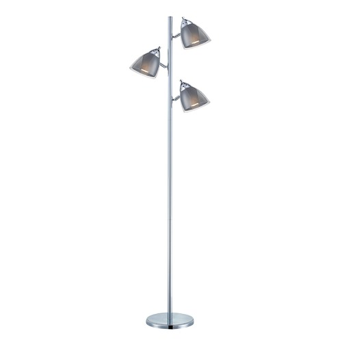 Lite Source Lighting Lite Source Chrome Floor Lamp with Conical Shade LS-81615A/SMOKE