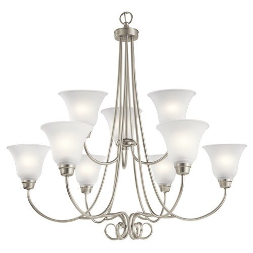 Kichler Lighting Kichler Lighting Bixler Brushed Nickel Chandelier 43939NI