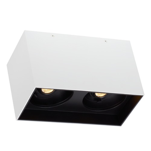 Tech Lighting White / Black LED Flushmount Ceiling Light by Tech Lighting 700FMEXOD640WB-LED935