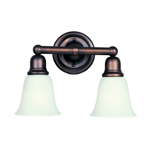 Maxim Lighting Bathroom Light with Beige / Cream Glass in Oil Rubbed Bronze Finish 11087SVOI