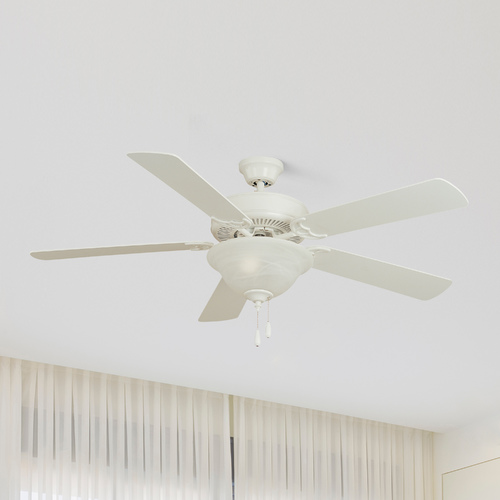Maxim Lighting Maxim Lighting Basic-Max Matte White Ceiling Fan Without Light 89905MW