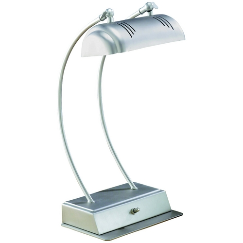 Lite Source Lighting Lite Source Lighting Megalite Satin Steel Desk Lamp LS-3356SS
