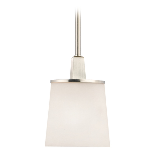 Dolan Designs Lighting Modern Mini-Pendant Light with White Glass 1091-09