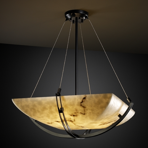 Justice Design Group Justice Design Group Lumenaria Collection Pendant Light FAL-9721-25-MBLK