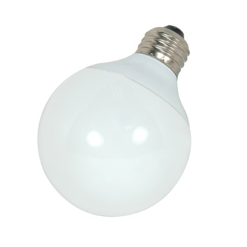 Satco Lighting 9-Watt Cool White Globe Compact Fluorescent Light Bulb S7302