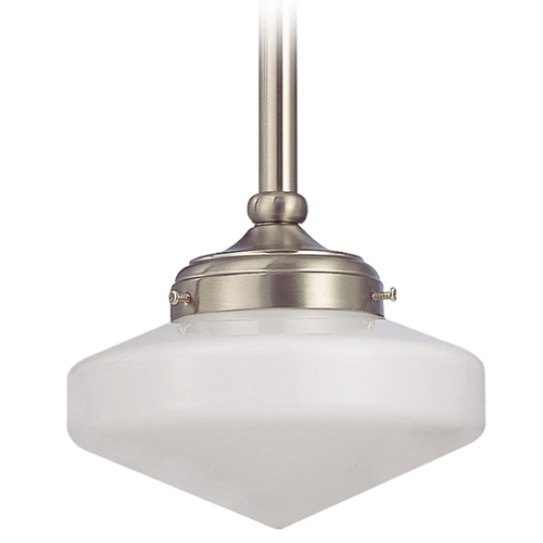 Design Classics Lighting 8-Inch Schoolhouse Mini-Pendant Light FA4-09 / GE8