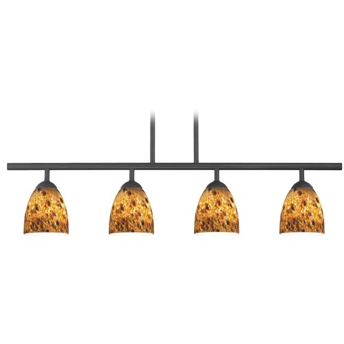 Design Classics Lighting Design Classics Axel Fuse Matte Black Island Light with Bell Shade 718-07 GL1005MB