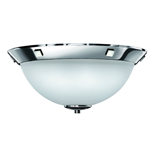 Hinkley Lighting Flushmount Light with White Glass in Chrome Finish 5251CM