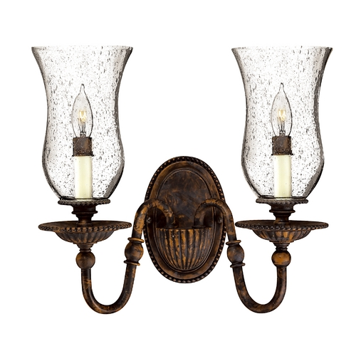 Hinkley Lighting Sconce with Clear Glass in Forum Bronze Finish 4622FB