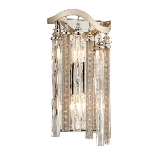 Corbett Lighting Corbett Lighting Chimera Tranquility Silver Leaf Sconce 176-12