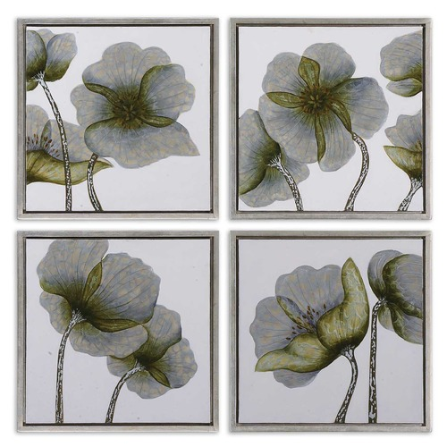Uttermost Lighting Uttermost Mini Floral Glow Wall Art Set/4 34216