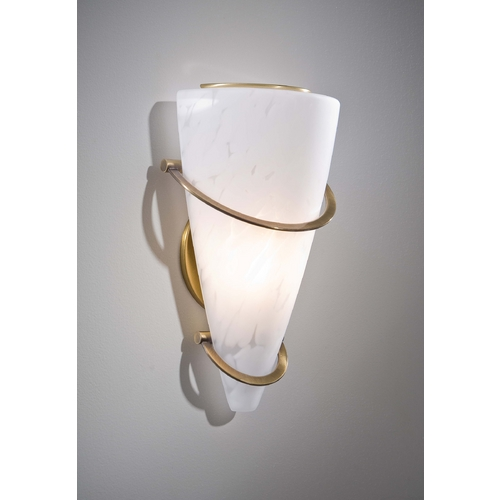 Holtkoetter Lighting Holtkoetter Modern Sconce Wall Light with White Glass in Antique Brass Finish 2969 AB SCH