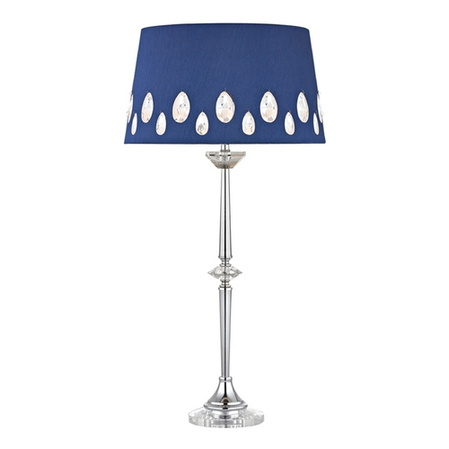 Dimond Lighting LED Console & Buffet Lamp with Blue Shades in Clear with Chrome Finish D2525-LED