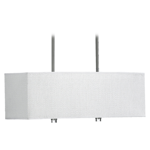 Quorum Lighting Quorum Lighting Copeland Satin Nickel Island Light with Rectangle Shade 860-4-65